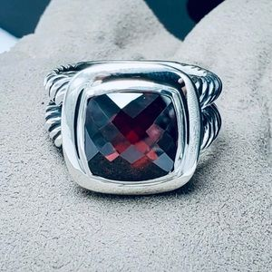 David Yurman 11 mm Garnet Albion Ring